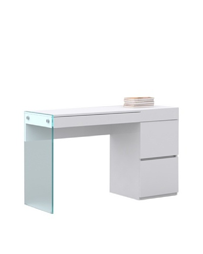 Casabianca Furniture Il Vetro Desk, Gloss White