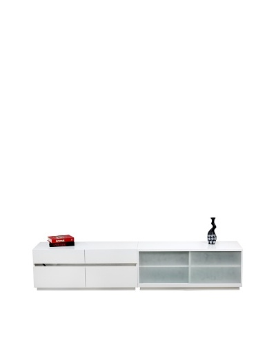 Casabianca Furniture Connection Media Console, White