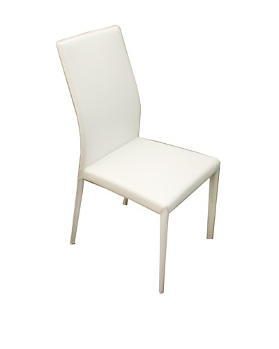 Casabianca Furniture Pair of Heritage Dining Chairs, White/ Brown