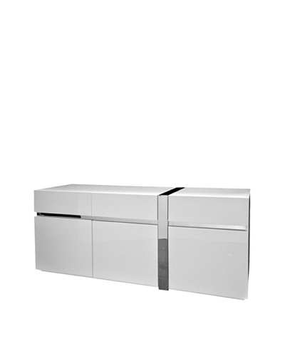Casabianca Furniture Cristallino Buffet, White