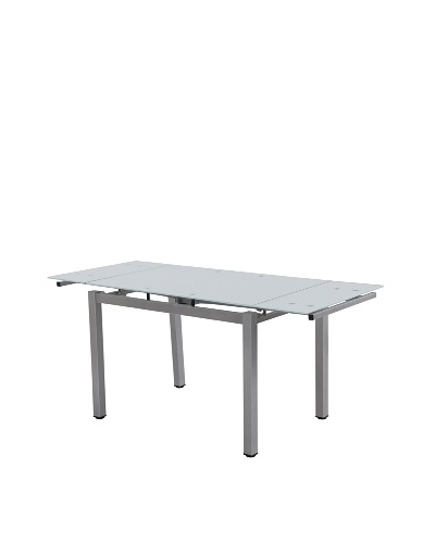 Casabianca Furniture Town Dining Table, Silver