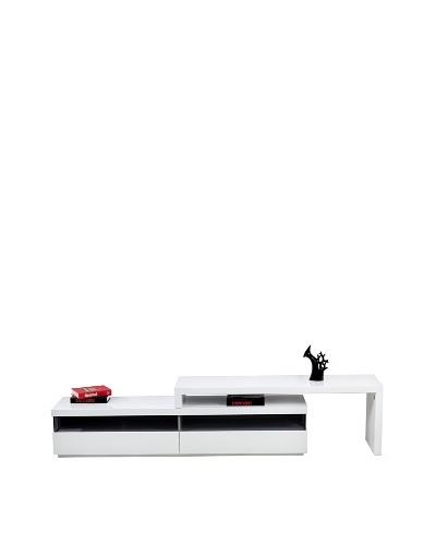 Casabianca Furniture Easy TV Media Console, White