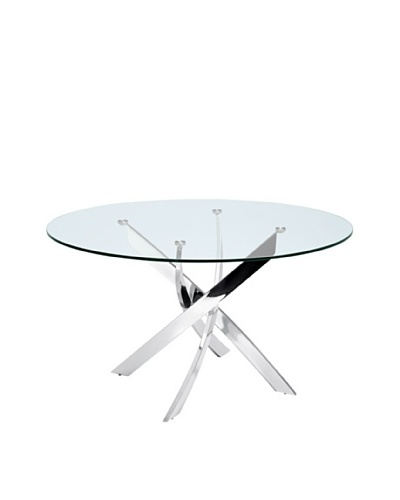 Casabianca Furniture Galaxy Dining Table, Silver