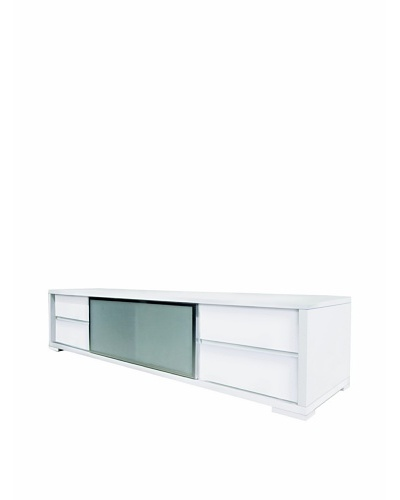 Casabianca Furniture Pineto Media Console Media Console, White