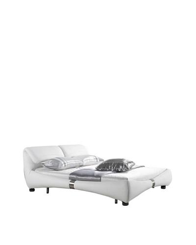 Casabianca Furniture Luxe Headboard & Bedframe, White
