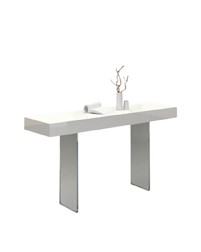Casabianca Furniture Il Vetro Console Table, White
