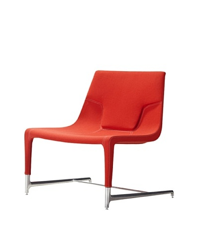 Casabianca Furniture Modena Occasional Chair, Orange/Stainless Steel