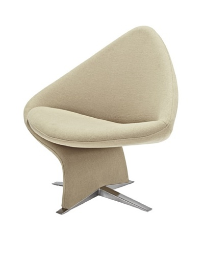 Casabianca Furniture Amelia Occasional Chair, Khaki/Stainless SteelAs You See