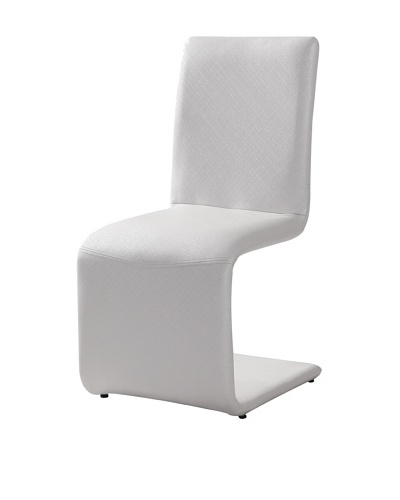 Casabianca Furniture Set of 4 Belle Dining Chairs, White
