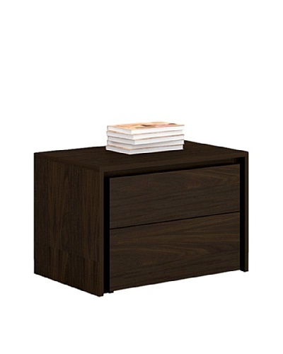 Casabianca Furniture Zen 2-Drawer Nightstand, Espresso Veneer