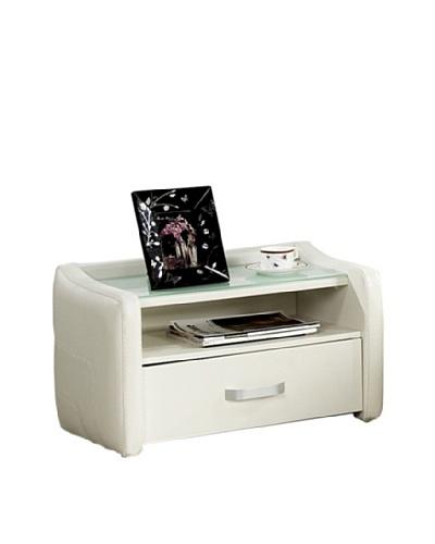 Casabianca Furniture Sole Nightstand, White