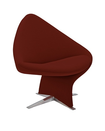 Casabianca Furniture Amelia Occasional Chair, Red/Stainless SteelAs You See
