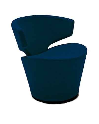 Casabianca Furniture Dijon Occasional Chair, Blue/Chrome