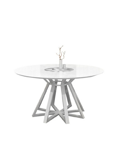 Casabianca Furniture Star Dining Table, White