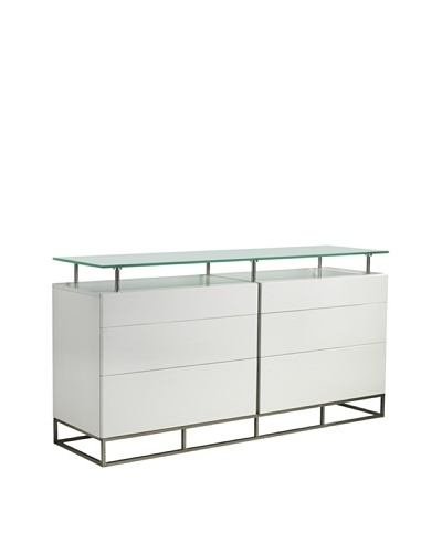 Casabianca Furniture Grove Buffet, Gloss White
