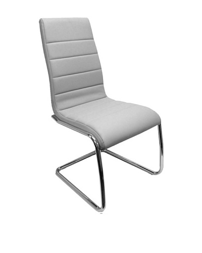 Casabianca Furniture Set of 4 Avenue Bonded Leather Dining Chairs, Grey