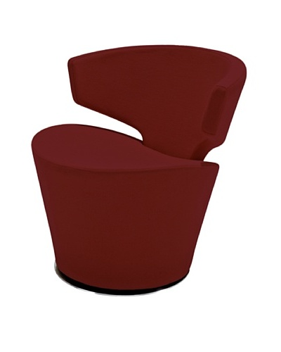 Casabianca Furniture Dijon Occasional Chair, Red/Stainless Steel