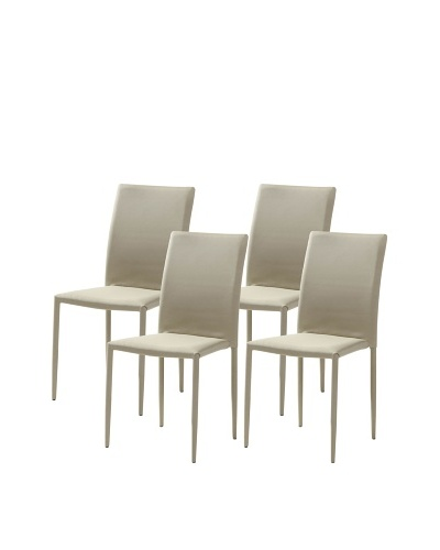 Casabianca Furniture Set of 4 Kimba Dining Chairs, Gray