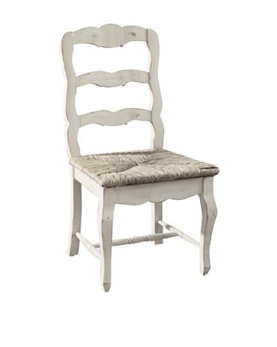 CasaMia Set of 2 Lorraine Rush Seat Chairs