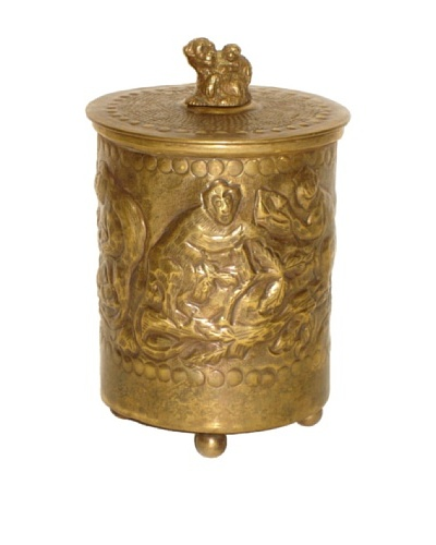 Castilian Monkey Box, Brass