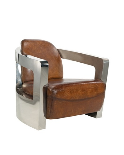 CDI Vintage Leather Pacific Coupe Chair, Brown