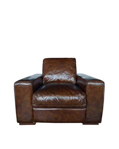 CDI Vintage Leather Cigar Chair, Brown