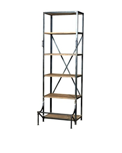 CDI Industrial Single Hutch Bookcase, Natural