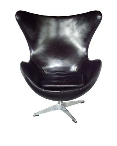 CDI Vintage Leather Copenhagen Chair, Black