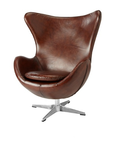 CDI Vintage Leather Copenhagen Chair, Brown