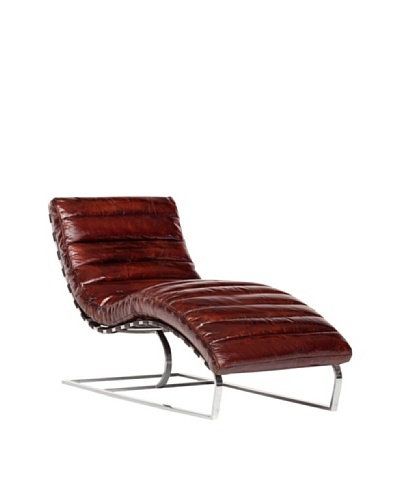 CDI Vintage Leather Lounge Chair, Brown