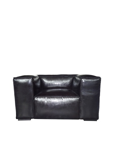 CDI Eaton Vintage Leather Chair, Black
