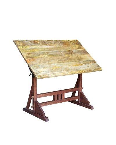 CDI Industrial Draft Desk, Natural