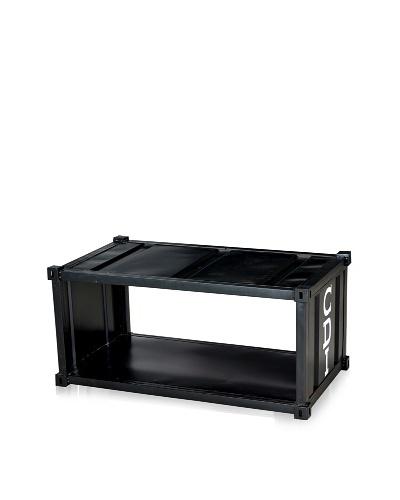 CDI Furniture Table à Café Contenaire Coffee Table, Aged Black