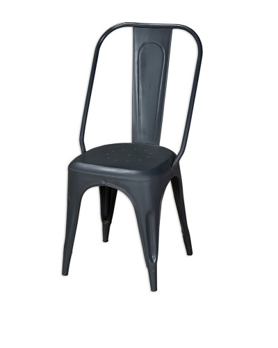 CDI Furniture New Industrial II All-Metal Chair, Dark Grey