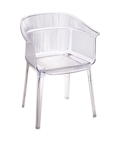 Zuo Set of 4 Allsorts Stacking Outdoor Dining Chairs, Transparent
