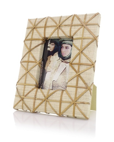 Raffia Cross-Weave Design 4 x 6 Photo Frame