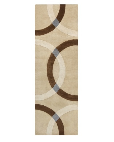 Chandra Bense Garza Rug, Beige/Brown, 2' 6 x 7' 6 Runner