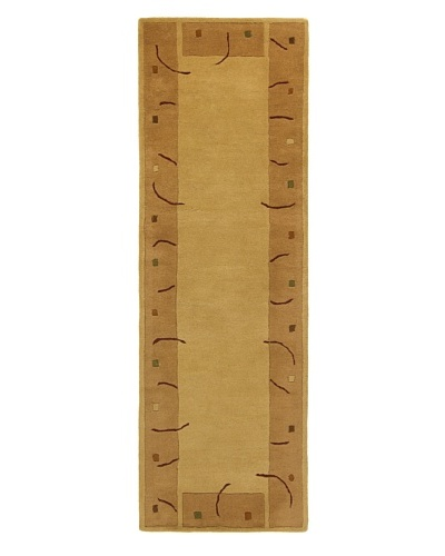 "Chandra Metro Rug, Light Brown, 2' 6"" x 7' 6"" Runner"
