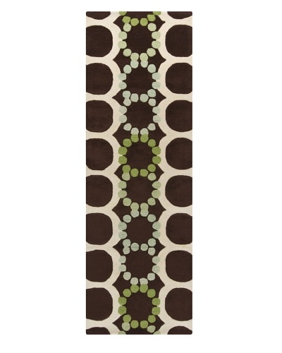 "Chandra Avalisa Rug, Brown/Green, 2' 6"" x 7' 6"" Runner"