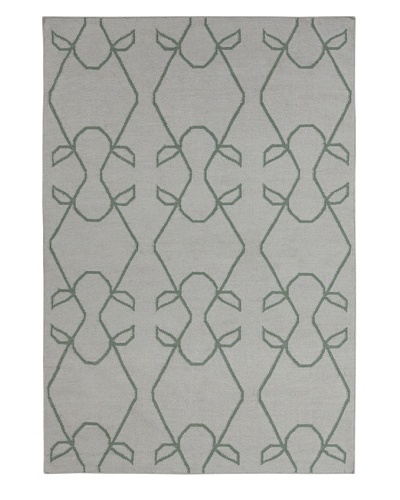 Chandra Greenwich Rug, Grey/Green, 5' x 7'