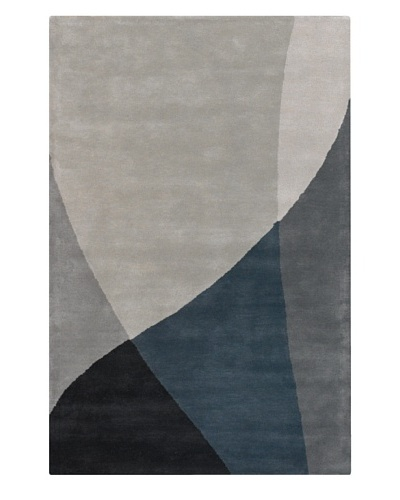 Chandra Hudson Rug, Grey, 5' x 7' 6""