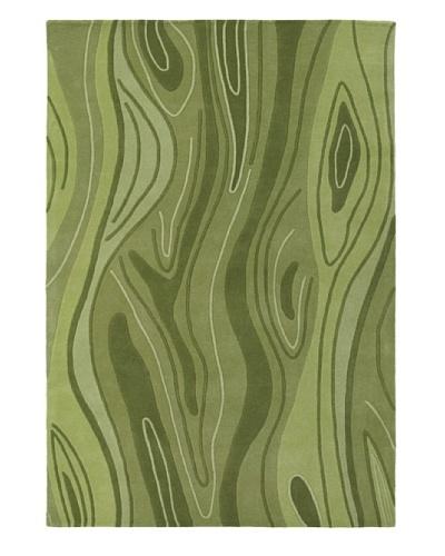 "Chandra Inhabit Rug, Green, 5' x 7' 6"""