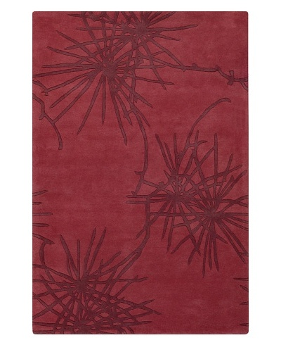 Chandra Counterfeit Studio Hand Tufted Wool Rug [Reds]
