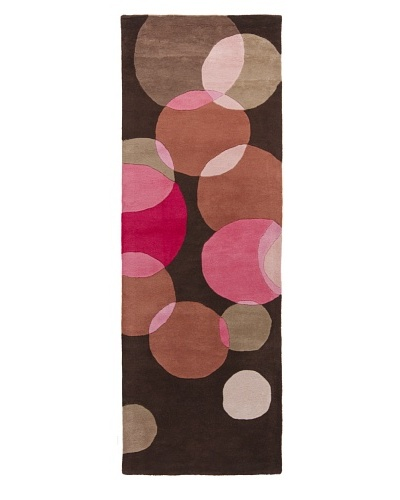 Chandra Avalisa Rug, Brown/Pink, 2' 6 x 7' 6