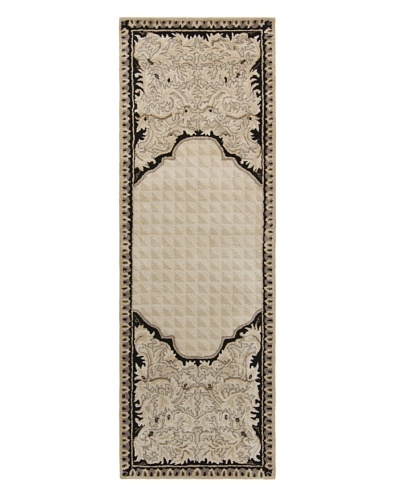 Chandra Ilisa Rug, Beige/Black, 2' 6 x 8' Runner