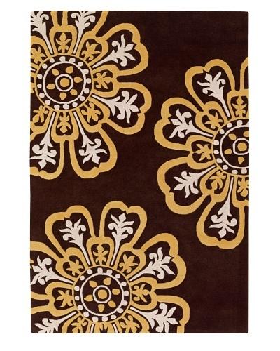 Chandra Counterfeit Studio Hand Tufted Wool Rug [Chocolate/Sunshine]