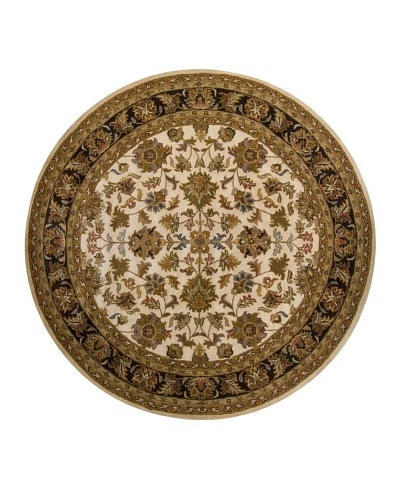 Chandra Adonia Rug, Cream/Brown, 7' 9 Round