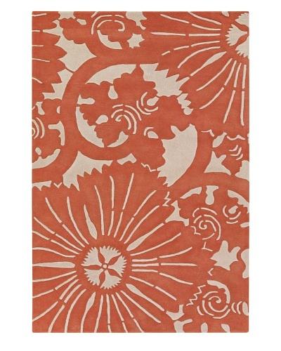 Chandra Counterfeit Studio Hand Tufted Wool Rug [Orange/White]