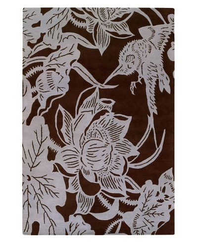 Chandra Counterfeit Studio Hand Tufted Wool Rug [Chocolate/White]