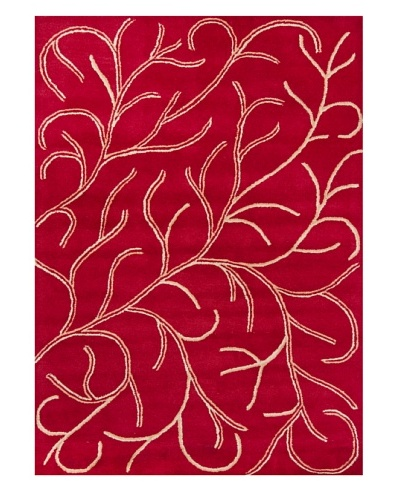 Chandra Bajrang Rug [Bright Red]